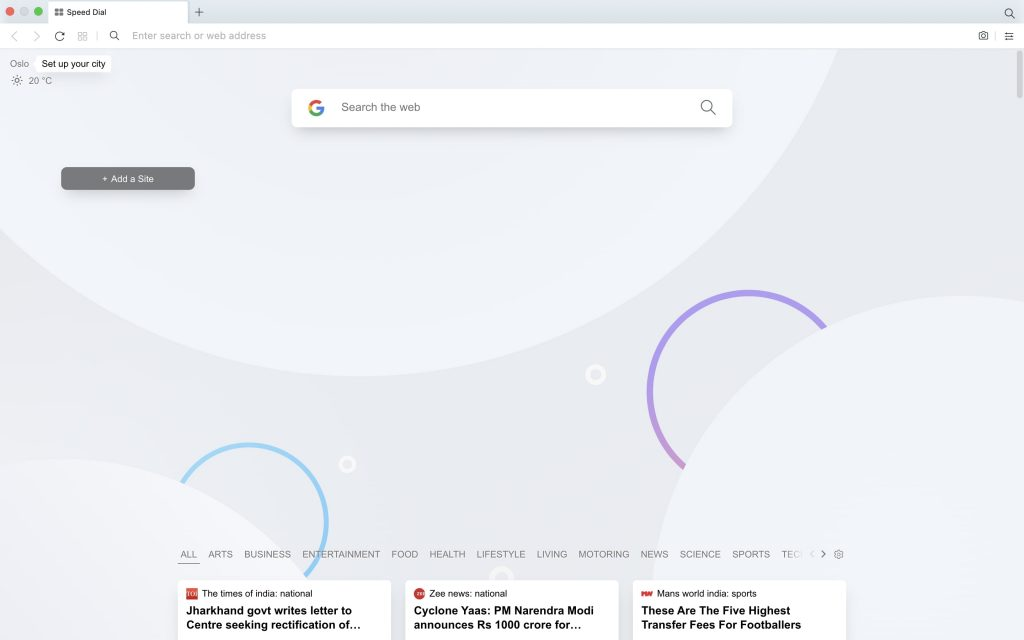 Set Blank Startup Page in Opera Browser