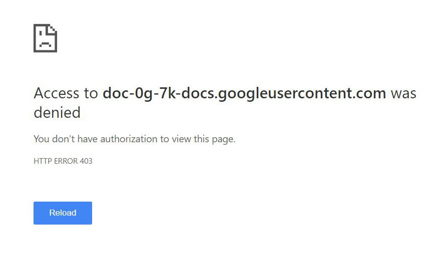 Can't Download Files in Google Chrome