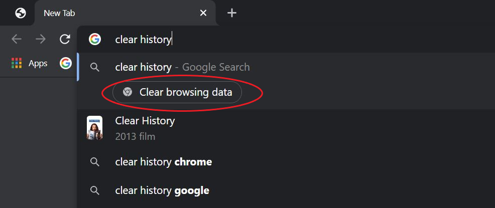 Quickly Clear Browsing History using Chrome Actions