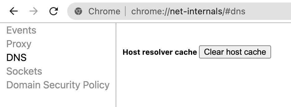 Clear Chrome Host Cache- Fix Resolving Host issue in Google Chrome