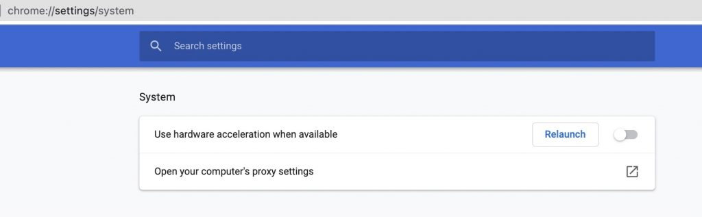 Disable Hardware Acceleration- Fix Page Unresponsive Error in Google Chrome
