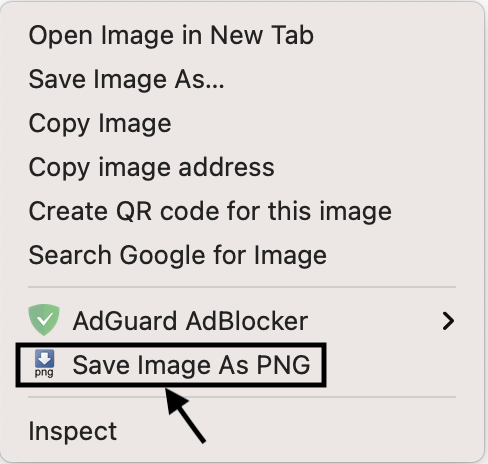 Save Image As JPG or PNG in Google Chrome