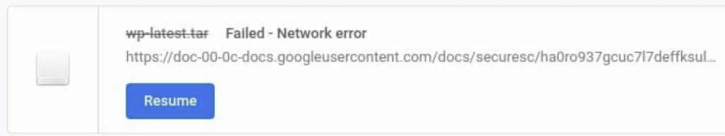 """Can't Download Files in Chrome-""""Network failed"""" Error"""
