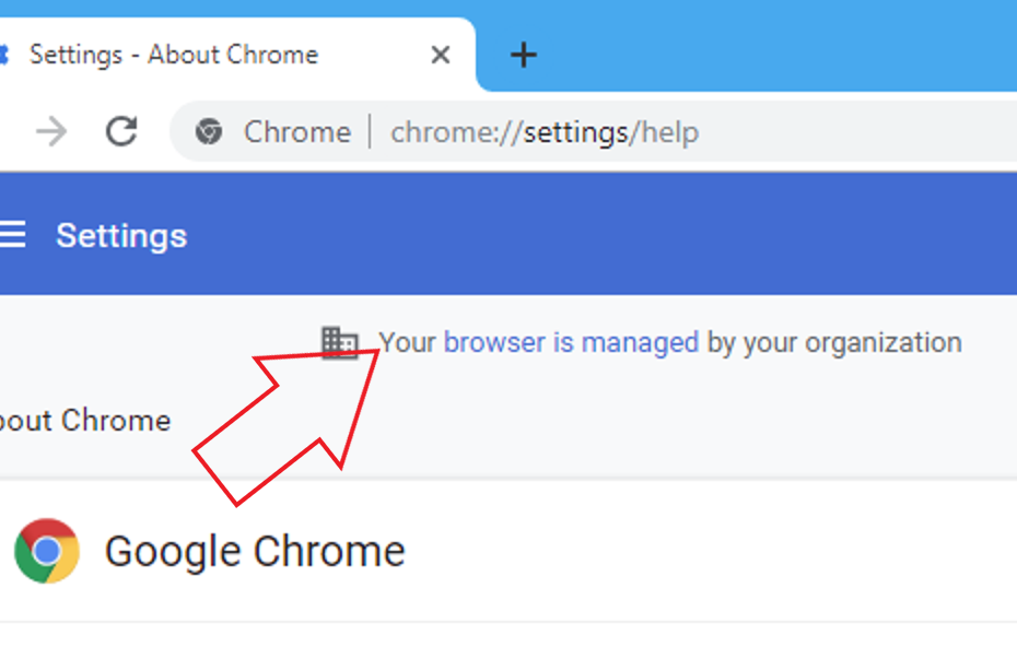 Why Does Google Chrome Show Your Browser is Managed By Your Organization