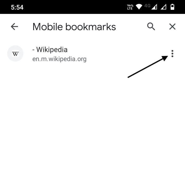 three-dot right to a bookmark