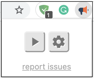 Click on the Read aloud icon.