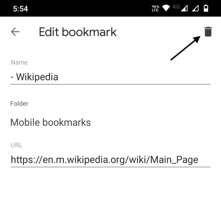 Edit or Delete Chrome Bookmarks on Android