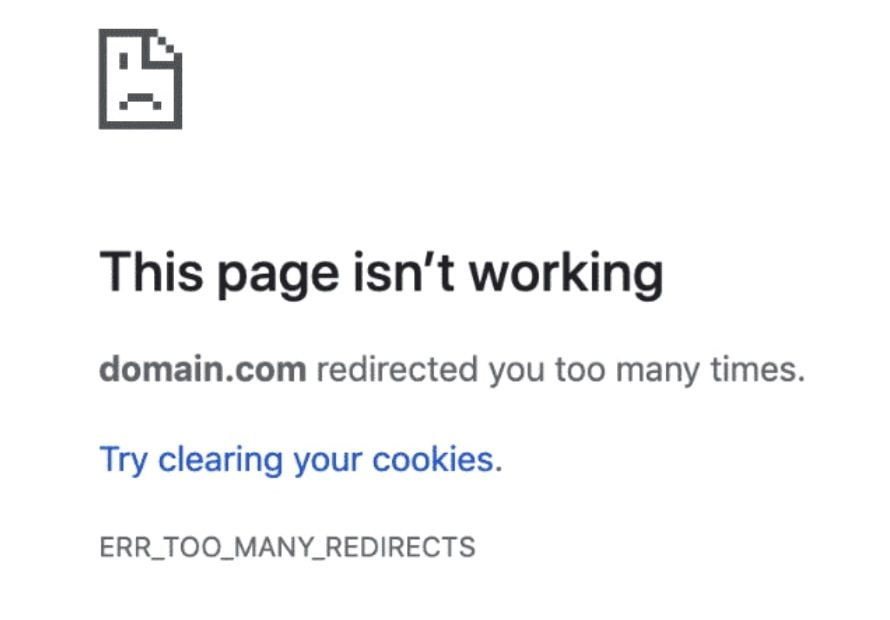 How to Fix ERR_TOO_MANY_REDIRECTS in Google Chrome