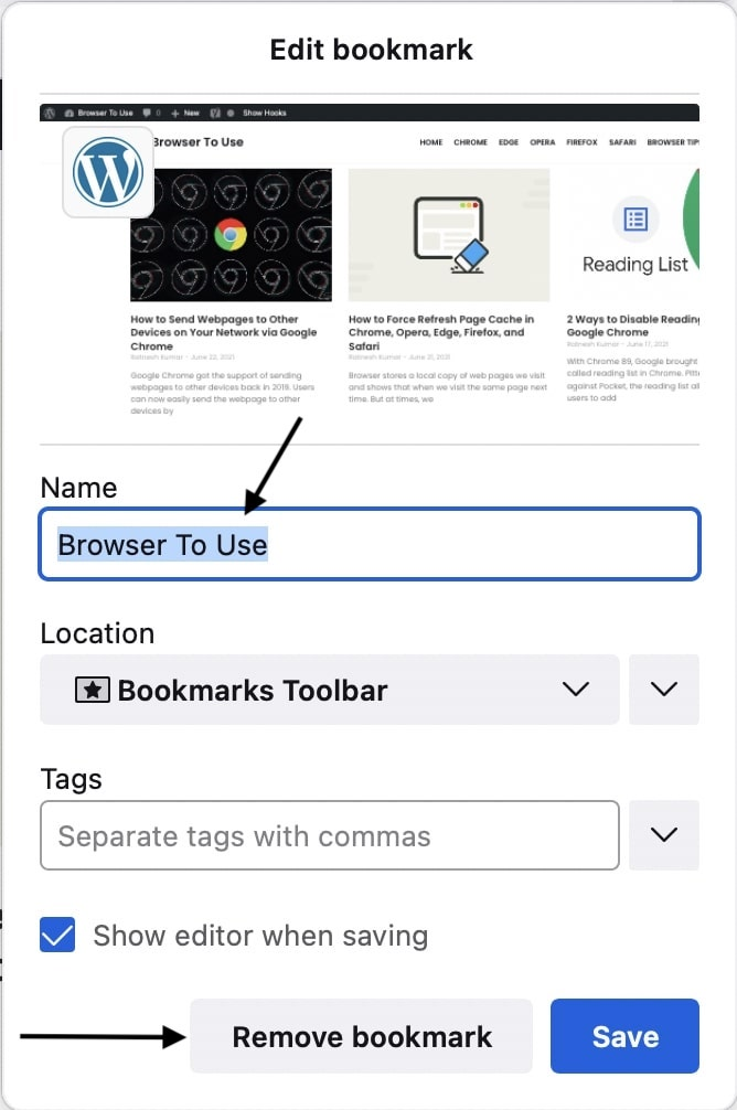 Edit or Delete Bookmarks in Firefox