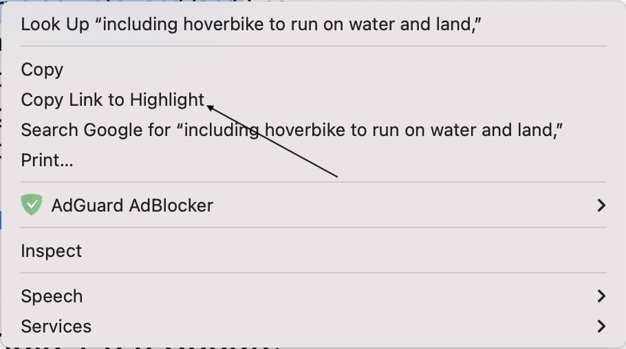 Create Links to Highlighted Text in Chrome