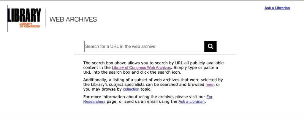 Library Of Congress archive
