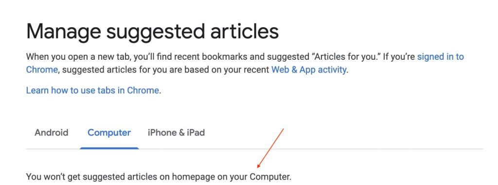 Manage Suggested Article
