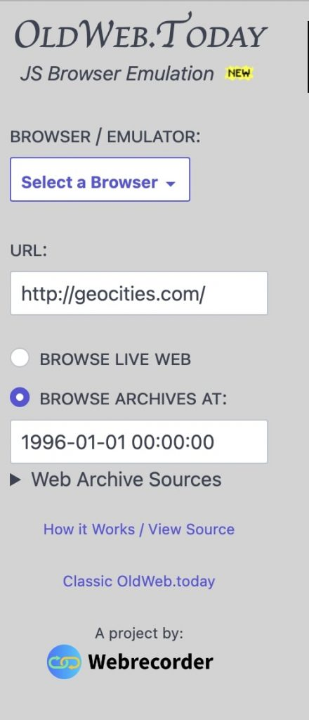 OLD.WEB.TODAY