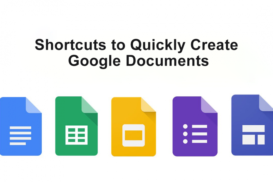 Create Google Docs, Sheets, Slides, or Forms with .new Shortcuts