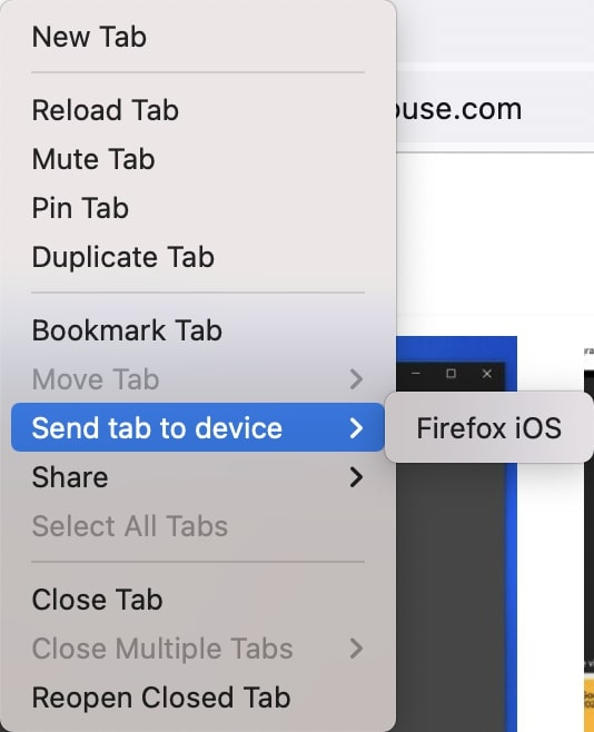 Send Tabs to Other Devices in Firefox