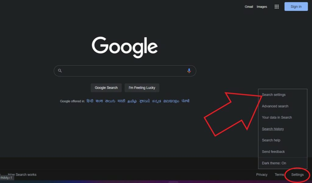 Disable Dark Mode in Google Search