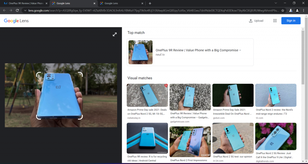 Use Google Lens Image Search on Chrome